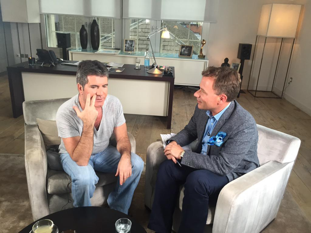 Coming up @GMB my exclusive chat with @SimonCowell on @BGT @onedirection @FifthHarmony & baby Eric! #GMB #BGT http://t.co/Cs2amxatOt