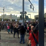 """Large crowd of protesters outside Olympia City Hall, chanting """"the whole damn system is guilty as hell."""" #Q13FOX http://t.co/UJGlJON60i"""