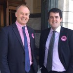 Proud to support #pinkshirtdaynz with colleague @jono_naylor (I missed the cross-party larger photo!) http://t.co/8F6LpmffhI