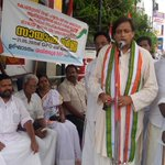Inaugurating a UDF dharna against the anti-people policues of the Central Government yesterday in Thiruvananthapuram