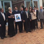 Blessie Gotingcos family, supporters and spokeswoman Ruth Money outside the High Court @NewstalkZB http://t.co/fYXKVKtdgx