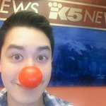 Up next in the #SocialBeat... were talking #RedNoseDay & #RedNose25. Heres mine! @gatesfoundation #KING5 http://t.co/5t2JZBJdoG