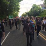 At 10, the march from Woodruff Park to Police Headquarters. How protesters responded #OlympiaShooting @KING5Seattle http://t.co/HpZz4WsQIX