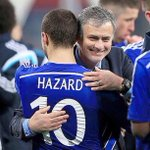 CONGRATULATIONS Jose Mourinho & @hazardeden10 The Premier League Manager & Player of the Season. #CHAMPIONS #CFC http://t.co/Q6DjWYaM8c