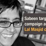 Sabeen targeted for campaign against Lal Masjid cleric Maulana Abdul Aziz. http://t.co/Qd6uxzNET7 http://t.co/cwMzTJ69zX