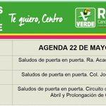 Agenda del viernes 22 de Mayo... juntos saquemos a Centro del bache http://t.co/R7W2R3cG5i