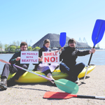 Helsinki Paddles With Seattle. Keep both coal and Arctic oil in the ground! #PeopleVsShell #ShellNo #PaddleInSeattle http://t.co/LqUCh5Ff31