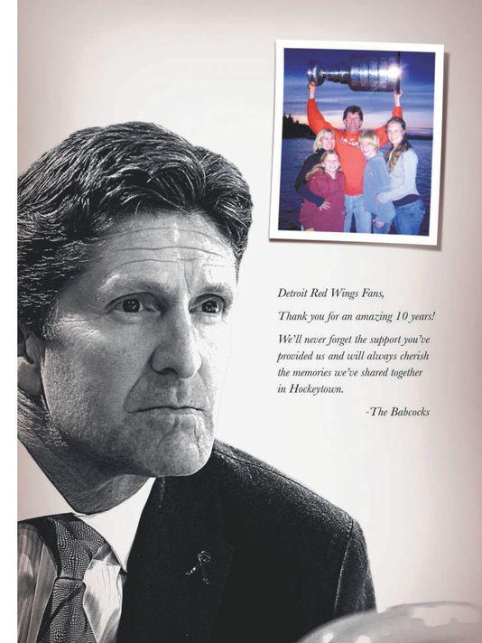 Mike Babcock's good-bye message to Detroit #TMLtalk http://t.co/TFa2u0Wlcb