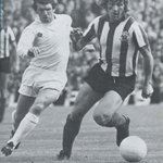 Alan Woodward of Sheffield United fends off Johnny Giles of Leeds RIP Alan http://t.co/BJZmMNV7qF