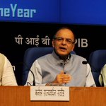 Shri @arunjaitley and Shri @Ra_THORe at the Press Conference on completion of One Year of Union Government. http://t.co/Gz3eQskfwU
