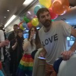 """""""@NaomiOhReally: This is the scene on the 9:10 London to Holyhead train as Irish abroad return #hometovote #marref http://t.co/z2epE17xUo"""""""