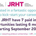 Our 2015 intern recruitment is now open! Follow @JRF_Jobs #JRFinterns2015 to find out more: http://t.co/Ka3MmVnr7a http://t.co/5hmTe1u7eL