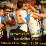 Horario de taquillas hoy: 11,00 a 14,00 y de 17 a 20.00 h. #HérculesCF @realmurciacfsad http://t.co/IirHhwgR1j http://t.co/WJb0YxHRS2