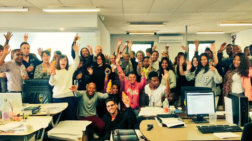 The work that keeps on giving. Mimosas & Lucozade for receiving SA's only @dandad Yellow Pencil for @LucozadeZA Radio http://t.co/622KVqF2ps