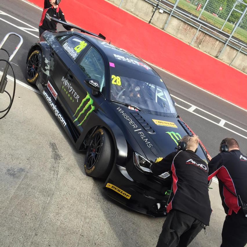 First BTCC test for @Nic olashamilton@Brands_Hatch today. Thanks to @MilltekSport for their great exhaust! #roarty http://t.co/RviImgqViJ