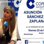 Hoy a las 12.30 @SuniALC2015 en La Mañana de COPE. #Elecciones2015 #Alicante http://t.co/LPwjEY8Gp3