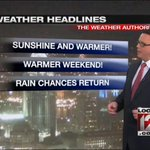 Its going to be a pleasant Memorial Day weekend according to @JohnGumms forecast: http://t.co/6y8VX0XcQw http://t.co/fxALARIVA4