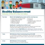 Book your place - Rotherham 'Healthy Balance' on Wednesday 3rd June - http://t.co/xj02A0Vpuc #rotherhamiswonderful http://t.co/Qg0BSZ7DBm