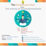 A #seminar #Talk on #the #power #of #entrepreneurship #entrepreneur #bootcamp #startups #Hyderabad #India http://t.co/6GfUL3E36c
