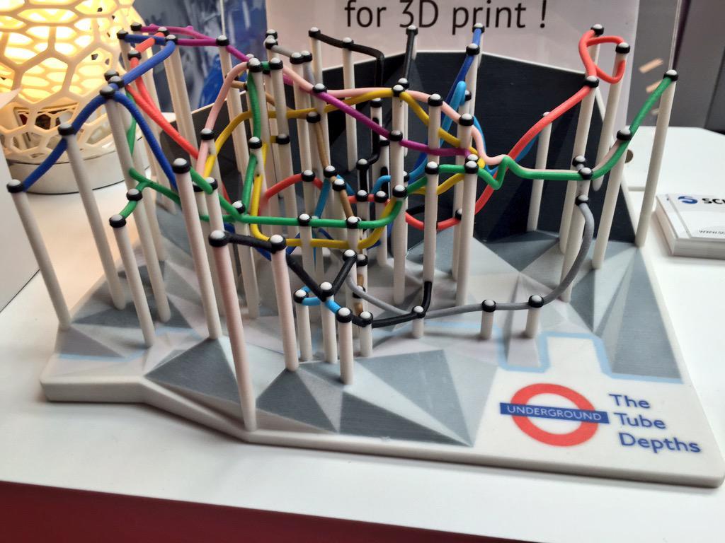 London #tube Depth map #3dprinted @3DPrintshow #3DPS http://t.co/7DSwLa8skf