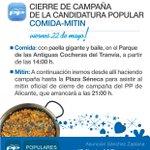 Cierre de #Campaña hoy a las 14h comida en las Antiguas Cocheras del Tranvía y a las 21h en Plaza Séneca #VotaSuni http://t.co/elvzVd0uOo