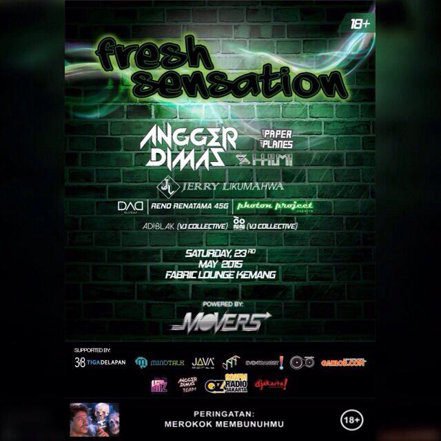TOMORROW NIGHT! Saturday, 23rd 2015. Fresh sensation at Fabric Garden Lounge. #EmbraceBold #JakartaMovers http://t.co/ebE80jwYDC