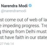 Stop trying to Rule Delhi through proxy LG. Let @ArvindKejriwal WORK, Delhi has Trusted him #ModiMurdersDemocracy http://t.co/ulCbDTfRnN