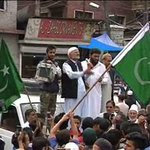 #J&K ; #Pakistani Flags Hoisted In #Srinagar during anti #India protests by Supporters of Mirwaiz @news24tvchannel http://t.co/6eKQotMXmN