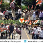 IYC registered strong protest against anti-India statement of PM Modi in China and South Korea #ModiInsultsIndia http://t.co/MypdflvW4X
