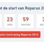 Minder dan 24 uur!! #Roparun http://t.co/A6TLabDORl