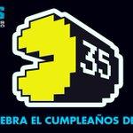 Antes de la invasión de #PixelsLaPeli, queremos celebrar hoy el 35 cumpleaños de Pac-Man. ¡Felicidades! http://t.co/h741tNlRX0