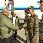 Defence Minister @manoharparrikar today visited #Siachen Base Camp with COAS Gen Dalbir Singh. http://t.co/BUDGfcb6zR