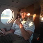 Lights on, wheels up. Last day of recruiting!  Hitting Michigan hard with @Coach_Staten. Go Green! http://t.co/r5Yjsxtj0H