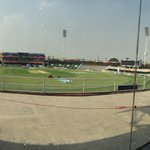The Gaddafi Stadium Lahore, ready and waiting to hold its first ever twenty20 international match #PakvZim #Cricket http://t.co/mhIQJfY14e