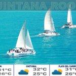 ¡Buen día Quintana Roo! Compartimos con ustedes el pronóstico del clima. http://t.co/pOMitS2Q2Y