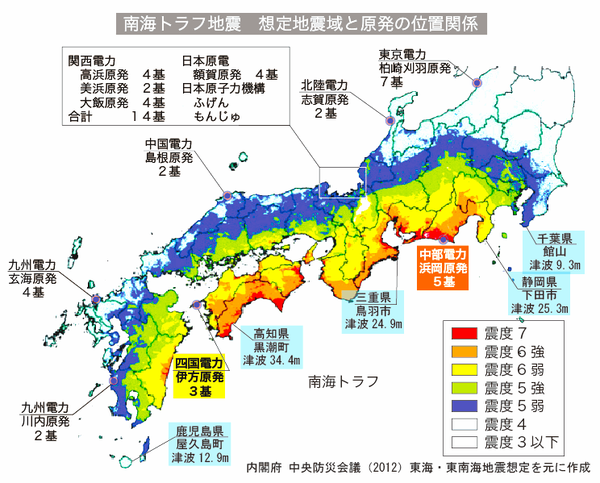test ツイッターメディア - これはマジに怖い~大型南海地震がくれば太平洋側の原発は全て破壊される恐れ?『M10の超巨大な海溝型地震が起きれば、80mクラスの巨大津波が襲ってくる可能性はある』 https://t.co/8Zm2XDHiDk …… https://t.co/pS26PURfmn