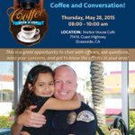 #CoffeeWithACop next Thurs. @ Harbor House Cafe in #Oceanside. http://t.co/0ElCtbdkpm