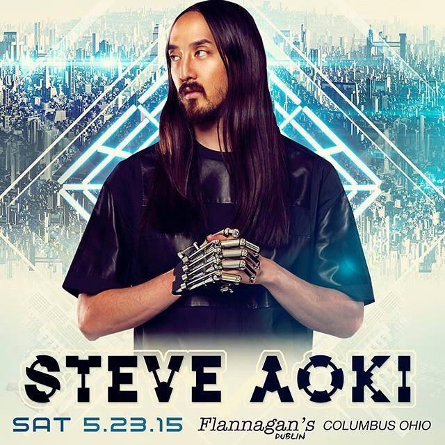#RT this post to win a pair of tickets to see @steveaoki Live @FlannagansDub tomorrow 06/23/15! Winner selected @4PM http://t.co/pJNtuqP29H