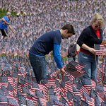 For #MemorialDay, 37,000 flags on Boston Common will honor each fallen service member from Massachusetts since 1775. http://t.co/P40OMBRD7I