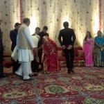 Delhi: Digvijaya Singhs son Jaivardhan Singhs wedding reception: PM Narendra Modi in attendance http://t.co/weYGT39Zjb