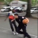 VIDEO: Uniformed NYPD officers school some kids in pickup basketball in the Bronx http://t.co/6ulV93AJjl http://t.co/7bSkXnl3Zn
