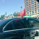 Things I never saw growing up in Atlanta: Cars with @ATLHawks flags http://t.co/KR77xLsbv9