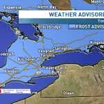 Temp drops down to around the freezing mark tonight with risk of frost here in the GTA. Frost advisory is in effect. http://t.co/gIFnUKxYym
