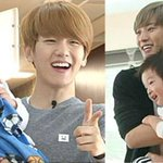Superman Is Back shares pictures of Chanyeol and Baekhyun with the twins http://t.co/SpBHR5nZO2 http://t.co/b2WQEZCZpz
