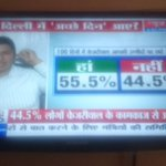 @AamAadmiParty : 55.5% peapl saying that @ArvindKejriwal is doing very good job in delhi .... http://t.co/1IgaLhQ2hf