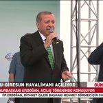 Cumhurbaşkanı Erdoğan Ordu-Giresun Havalimanı açılışında konuşuyor. CANLI: http://t.co/CATxOUwZ7u http://t.co/y5cJDMULM7