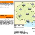 #Buongiorno #Friuli, ecco le previsioni del #tempo dell#Osmer per la giornata di oggi in #Fvg http://t.co/cZMGJQn7do