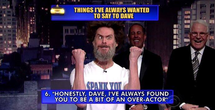 Джим Керри и его эпичнейшее выражение лица в последнем выпуске передачи Дэвида Леттермана ;) http://t.co/ZpmO1N4hSg