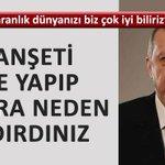 """Cumhurbaşkanı Erdoğandan (Hürriyete) : O manşetleri yapıp sonra neden kaldırdınız http://t.co/sa18nW8zPS http://t.co/NAEvbJpICt"""""""