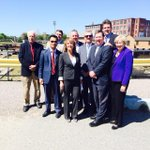 With @JayAshEOHED & #Lowell delegation touring downtown development - a city on the move - beautiful day http://t.co/vgZVf82bps